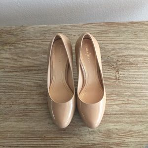 Cole Haan Patent Leather Pumps in Nude